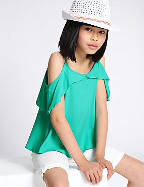 Cold Shoulder Frill Camisole Top (3-14 Years)
