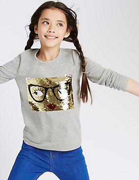 Long Sleeve Face T-Shirt (5-14 Years)