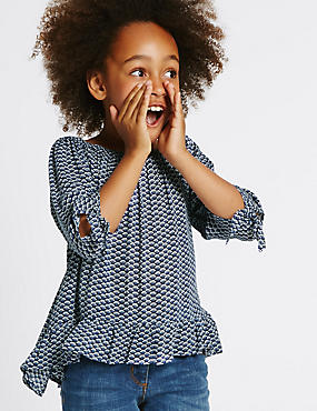 Geometric Print Blouse (3-14 Years)