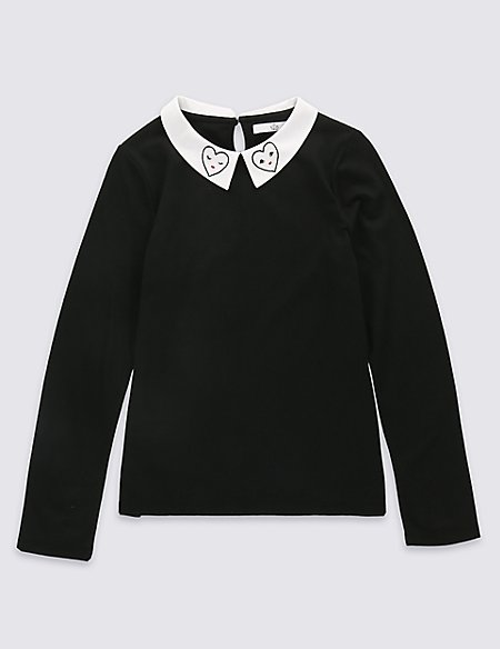 Pure Cotton Long Sleeve Top (5-14 years)