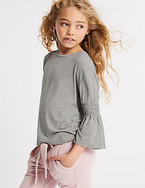 Frill Sleeve Top (3-16 Years)