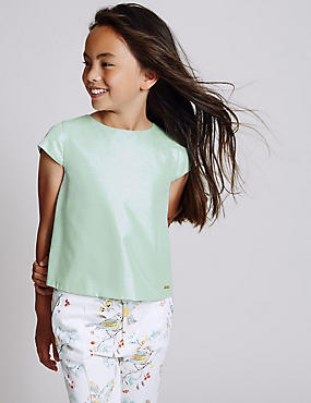 Cotton Blend Sparkle Top (3-14 Years)