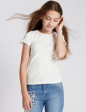 Pure Cotton Short Sleeve T-Shirt with StayNEW™ (3-14 Years)