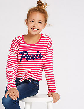 Pure Cotton Top (3-16 Years), PINK MIX, catlanding