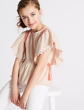 Tassel Pure Cotton Top (3-16 Years)