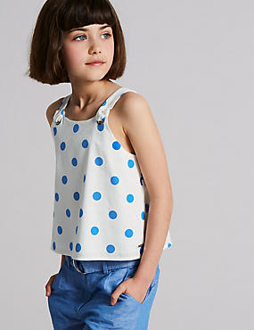 Pure Cotton Spotted Top (3-16 Years)