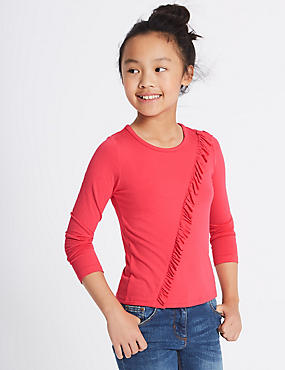 Frill Long Sleeve Top (3-14 Years)