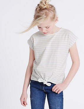 Pure Cotton Tie Front Top (3-14 Years)