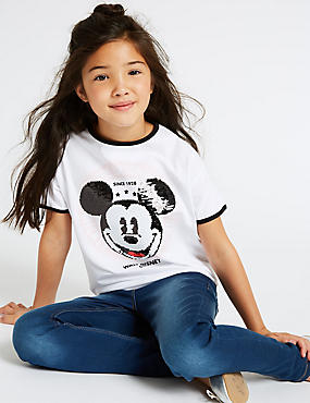 Mickey Mouse™ T-Shirt (3-16 Years), WHITE MIX, catlanding