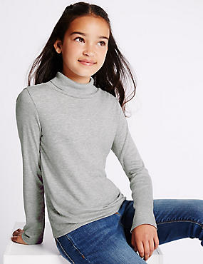 Long Sleeve Roll Neck Top (5-14 Years)