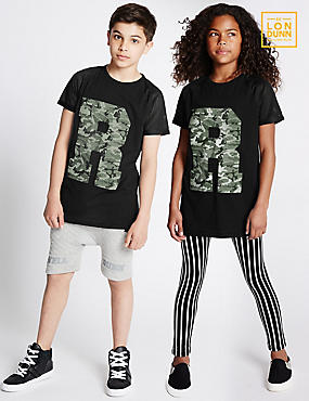 Pure Cotton Unisex R Print T-Shirt (5-16 Years)