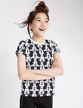Pure Cotton Mickey Mouse Print Top (5-14 Years)