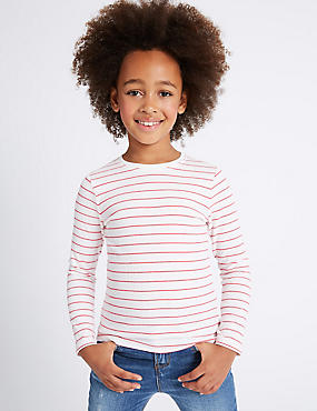 2 Pack Striped Long Sleeve Tops (3-14 Years)