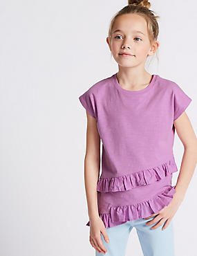 Pure Cotton Asymmetric Top (3-16 Years)