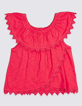 Pure Cotton Bardot Top (3-16 Years)