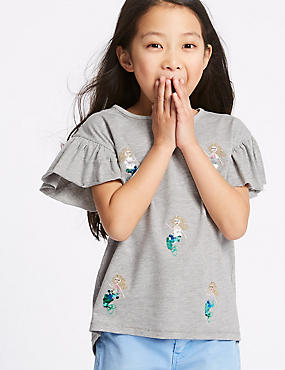Frill Sleeve Mermaid Top (3-16 Years)