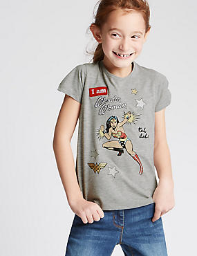 Cotton Rich Wonder Woman™ Top (3-14 Years)