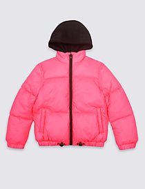Cropped Padded Coat (3-16 Years)
