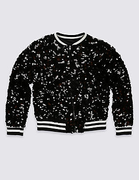 Sequin Bomber Jacket (5-14 Years)