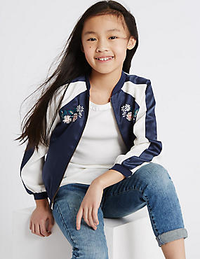 Embroidered Bomber Jacket (3-14 Years)