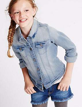 Cotton Rich Long Sleeve Denim Jacket (3-14 Years)