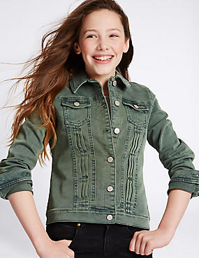 Cotton Denim Jacket with Stretch (3-14 Years)