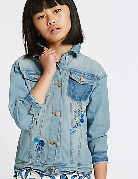 Embroidered Denim Jacket (3-14 Years)