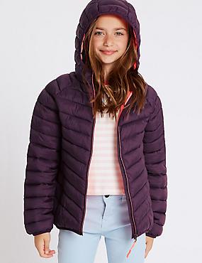 Lightweight Coat with Stormwear™ (3-16 Years), PLUM, catlanding