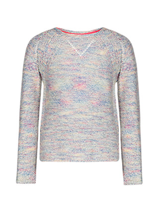 Rainbow Open Knit Jumper (5-14 Years) Clothing