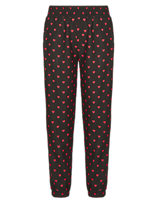 Heart Print Trousers (5-14 Years) Clothing