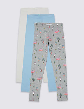 3 Pack Leggings with StayNEW™ (3-14 Years)