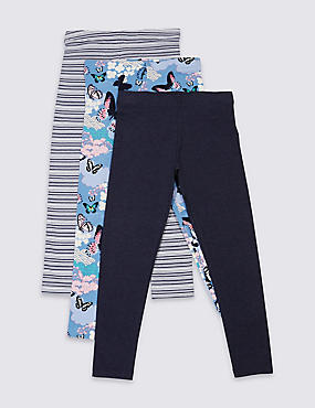 3 Pack Assorted Leggings (3-14 Years)