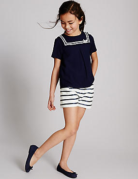 Cotton Rich Striped Shorts (3-14 Years)