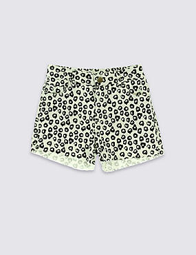 Cotton Rich Abstract Print Shorts (5-14 Years)