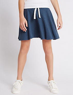 Pure Cotton Pleated Skater Skirt (5-14 Years)