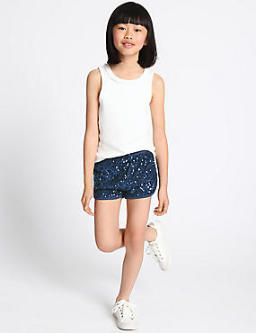 Sequin Shorts (3-14 Years)