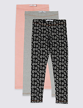 3 Pack Cotton Rich Leggings (3-14 Years)