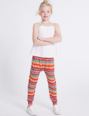 Aztec Print Trousers (3-14 Years)