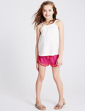 Embroidered Woven Shorts (3-14 Years)