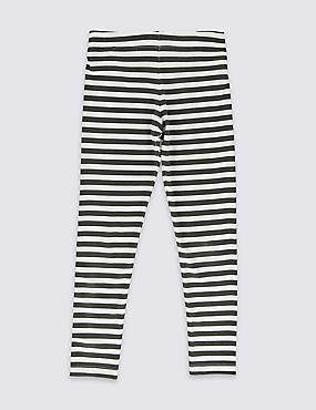 Cotton Rich Striped Leggings with StayNEW™ (3-14 Years)