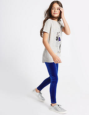 2 Pack Velvet Leggings (3-14 Years)