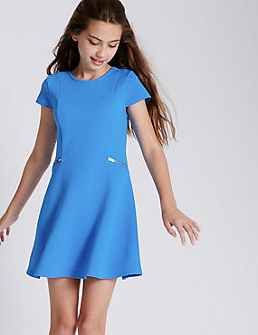 Zipped Fit Flare Dress (5-14 Years)