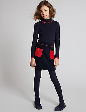 Patch Pocket Back Zip Skirt (3-14 Years)