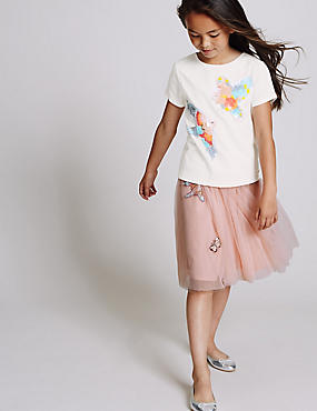 Bird Applique Skirt (3-14 Years)