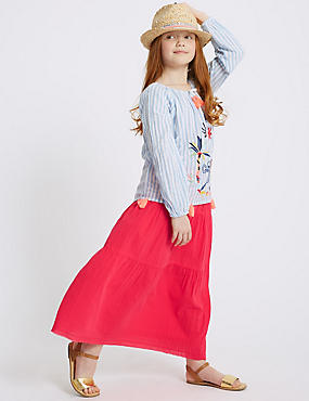 Pure Cotton Midi Skirt (3-16 Years)