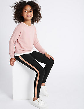 Glitter Stripe Cotton Leggings (3-14 Years)