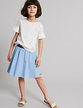 Pure Cotton Chambray Skirt (3-16 Years)