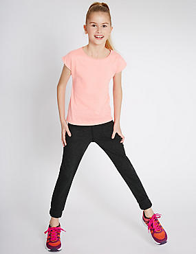 Cotton Blend Drawstring Joggers (5-14 Years)