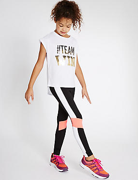 Sport Panel Leggings (5-14 Years)