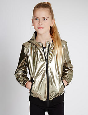 Faux Leather Jacket with Stormwear™ (5-14 Years)